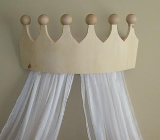 Large Pine Crown for Girls Room